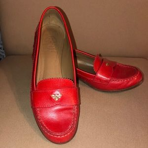 Tory Burch Candy Apple red loafers